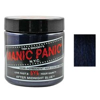 Manic Panic Semi Permanent Hair Color Cream After Midnight Blue 4 Oz