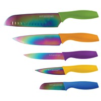 Hampton Forge HMC01E550S 5-Piece Tomodachi Titanium Cutlery Set with Blade Guard