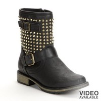 Candie's® Studded Midcalf Boots - Women