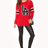 City Of Angels Varsity Sweater