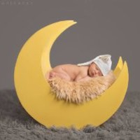 Newborn Moon Photography Prop Light Yellow