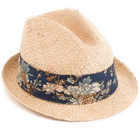 Monsoon | accstrilby | Straw Trilby With Printed Band