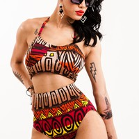 Jungle Queen High-Waist Bikini Bottom - Swimwear