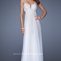 Long Strapless La Femme Dress 19745