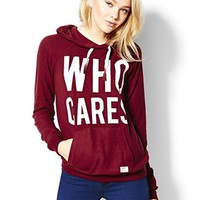 """Who Cares"" Lazy Hoodie - Graphic Tees - Garage"