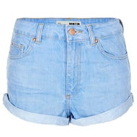 MOTO Blue High Waisted Hotpants
