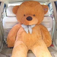 "78"" Giant Teddy Bear Light Brown Jummo Lifesize Stuffed Bear 6.5ft 200cm"
