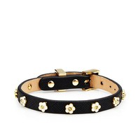 Daisy Stud Leather Bracelet