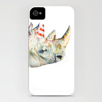 Rhino's Party iPhone & iPod Case by Brandon Keehner
