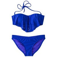 Xhilaration® Junior's Hanky 2-Piece Swimsuit -Cobalt Blue