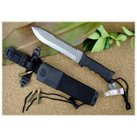 Recon Survival Knife, Aluminum Handle, Survival Kit, Plain