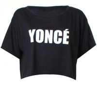 LOVE Black 'Yonce' Cropped T-shirt