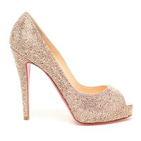 CHRISTIAN LOUBOUTIN | 'Very Riche' Swarovski Embellished Pumps | Browns fashion & designer clothes & clothing