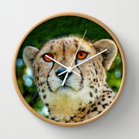 CHEETAH PORTRAIT Wall Clock by catspaws