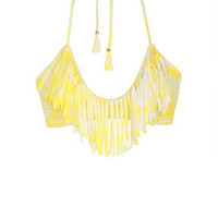Raisins Fringe Top - Yellow Multi