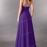 Full Lengtth Bridesmaid Evening Formal Ball Gown Bridal Prom Party Pageant Dress