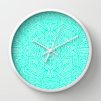 Radiate (Mint) Wall Clock by Jacqueline Maldonado