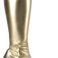 Adult Gold Go Go Costume Boots (Size: 9)