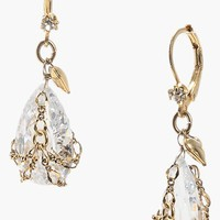 Betsey Johnson Crystal Briolette Drop Earrings