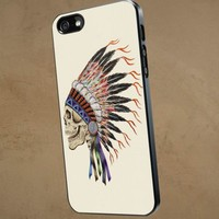 Indian Skull beautiful - iPhone 5 case Black/White Case