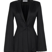 Shiny Wool Multi Seam Jacket by J.W. Anderson for Preorder on Moda Operandi