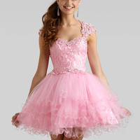 Sweetheart Laced Top Formal Prom Dress Clarisse 2332