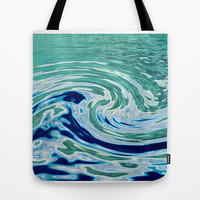 OCEAN ABSTRACT 2 Tote Bag by catspaws