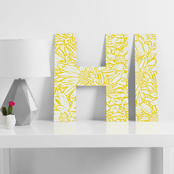 Lisa Argyropoulos Daisy Daisy In Golden Sunshine Decorative Letters