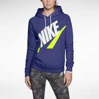 Nike Rally Futura Pullover Women's Hoodie - Deep Night