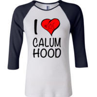 5 Seconds Of Summer Calum Hood 3/4 Sleeve Baseball Ladies Jersey - TeeeShop