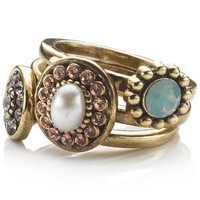 Monsoon | accsrings | 3 x Vintage Jewelled Stacking Rings