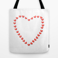 Heart of Hearts Tote Bag by RichCaspian