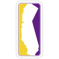 California Logo Purple and yellow