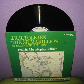 Rare Vinyl Record The Silmarillion of Beren & Luthien LP 1977 Christopher Tolkien Narrated LOTR
