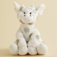 "Little Giraffe Infant Girls' Plush Giraffe Toy - 9"" x 9"" x 12"""