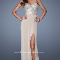 Floor Length Strapless Prom Dress by La Femme