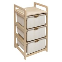 Hamper 3-Drawer Storage Unit - Natural