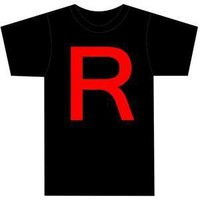 Pokemon Team Rocket Symbol Black T-shirt Adult