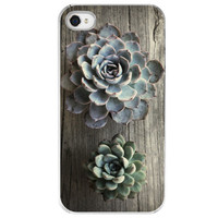 iPhone 4 /4S case Succulents gift green plants by SkyeZPhotography
