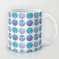 Universal Geometry 2 - Galaxy Polkadots in purple and aqua Mug by Tangerine-Tane