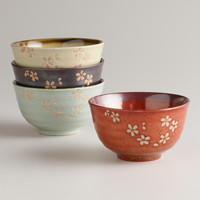 Fuji Blossom Rice Bowls, Set of 4 - World Market