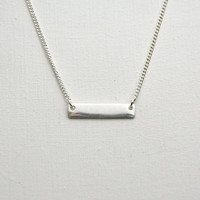 Mini Bar Necklace - Sterling Silver Bar Necklace - Everyday Necklace