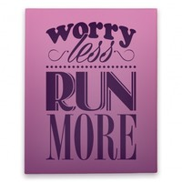 Worry Less Run More Canvas Print