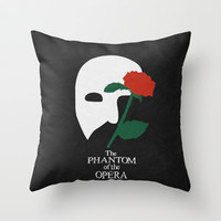 The Phantom Of The Opera - Minimalist Poster 01 Throw Pillow by Misery