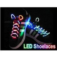 TOOGOO Led Light Up Flashing Glowing Shoelaces - Multi-Color LED Shoe Laces flash Lighting the Night For party Hip-hop Dancing