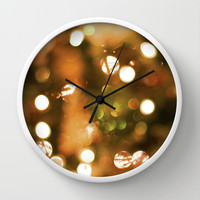 Christmas Lights  Wall Clock by Lauren Lee Designs