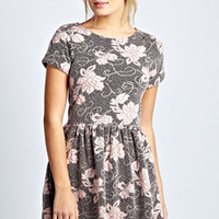 Daisy Jaquard Skater Dress