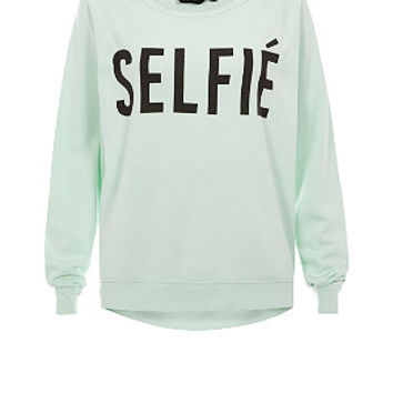 Mint Green Selfie Sweater