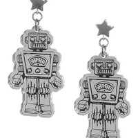 Retro Roboto Starman Earrings