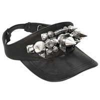 Leather Visor Studded by KTZ - Leather Visor Studded by KTZ